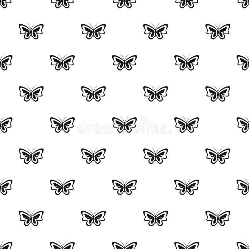 Vettore senza cuciture insolito del modello di farfalla illustrazione di stock