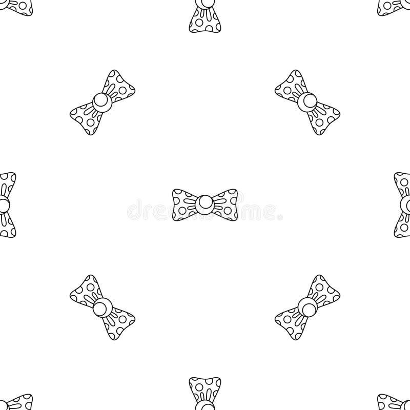 Vettore senza cuciture punteggiato del modello della cravatta a farfalla illustrazione vettoriale