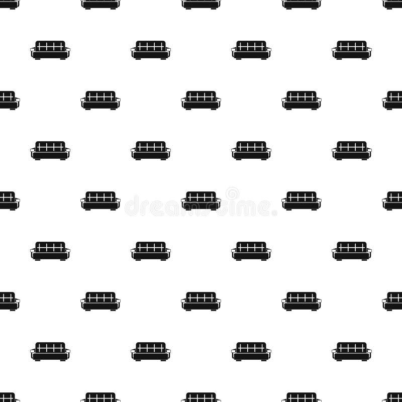 Vettore senza cuciture spogliato del modello del sofà illustrazione vettoriale