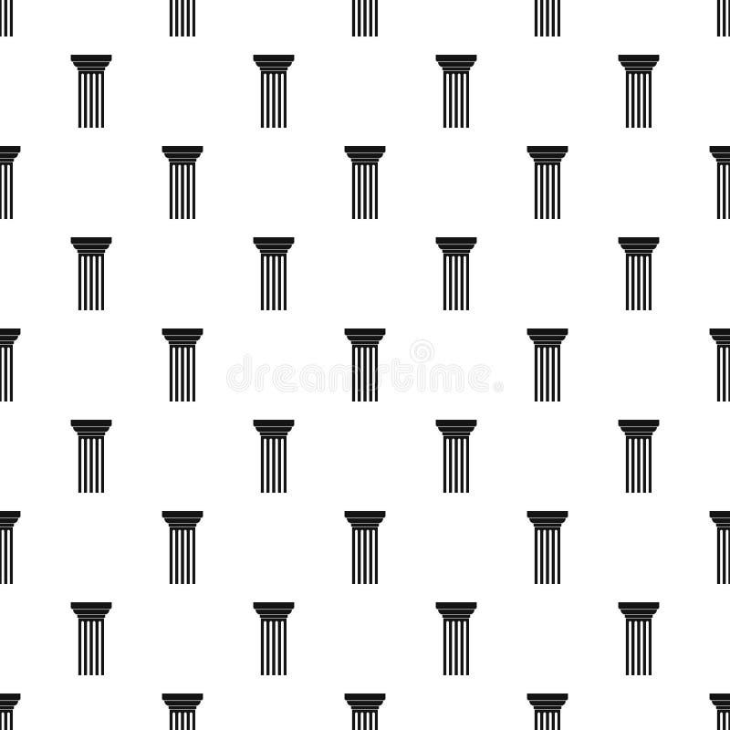 Vettore senza cuciture triangolare del modello di colonna illustrazione di stock