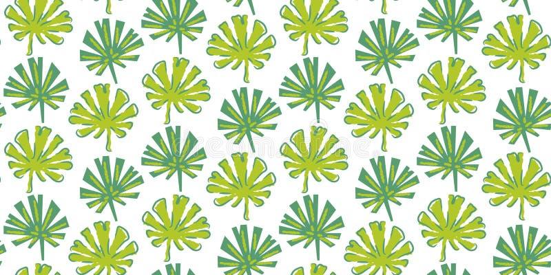 Vettore senza cuciture tropicale del modello nei colori verdi illustrazione di stock