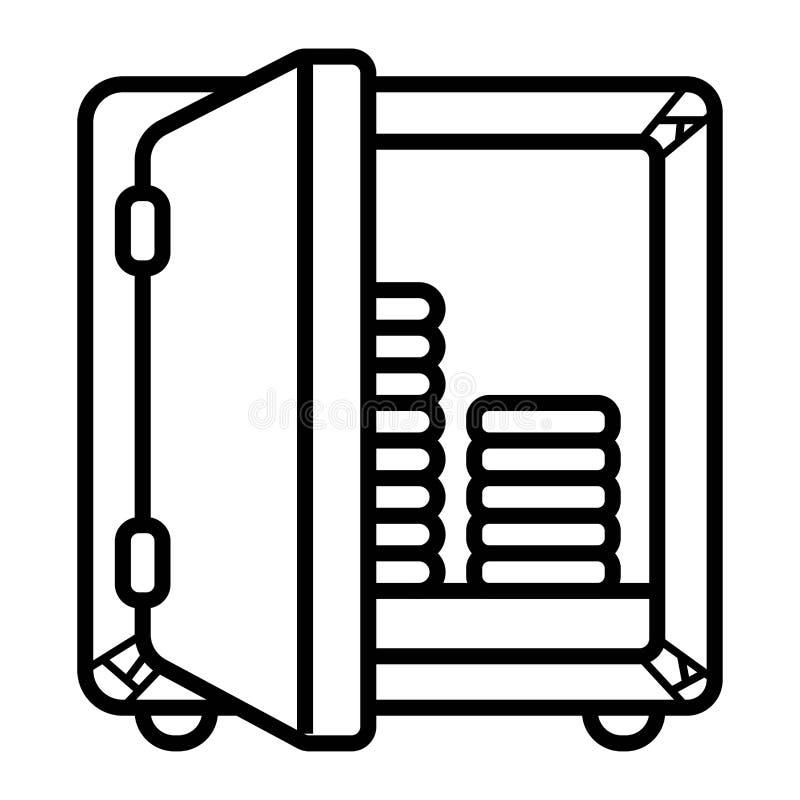 Vettore sicuro dell'icona illustrazione vettoriale
