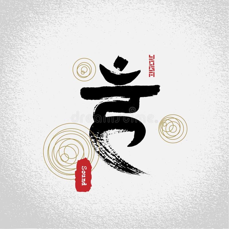 Vettore: simboli di chakras della gola di yoga con stile di lavoro di pennello illustrazione vettoriale