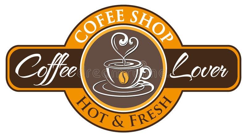 Vettore, simbolo della caffetteria immagine stock