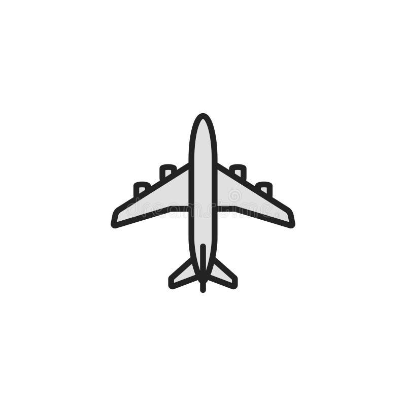 Vettore, simbolo o logo piano dell'icona degli aerei royalty illustrazione gratis