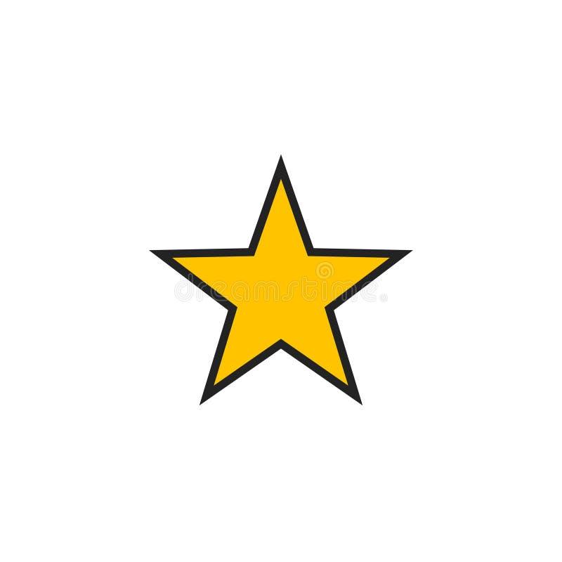 Vettore, simbolo o logo piano dell'icona della stella illustrazione vettoriale
