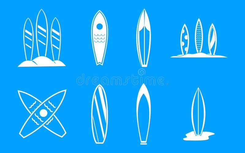 Vettore stabilito del blu dell'icona del bordo di spuma illustrazione di stock