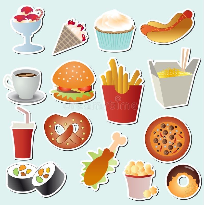 Download Vettore Stabilito Dell'alimento Illustrazione Vettoriale - Illustrazione di pasto, economia: 30831153