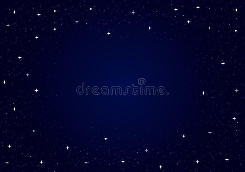 Vettore stellato del cielo notturno illustrazione di stock