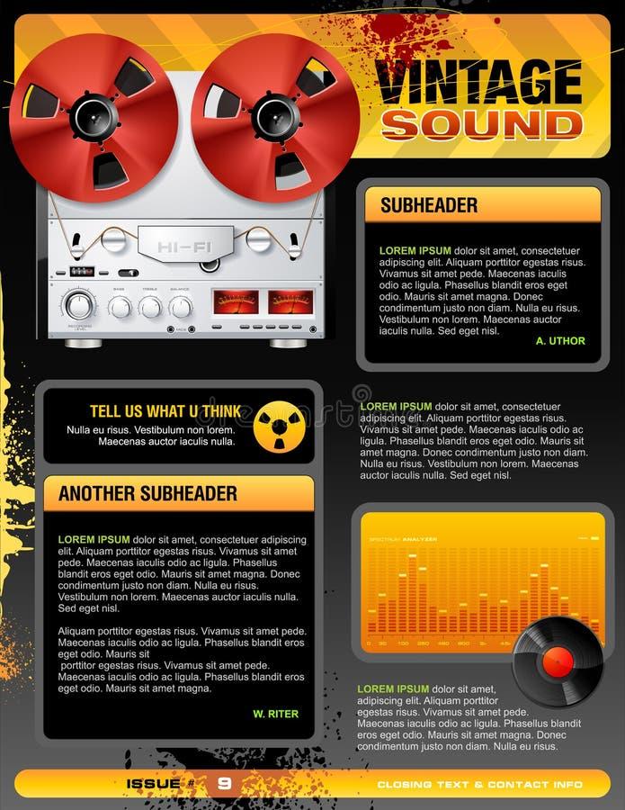 Vettore stereo di Web page del negozio dell'annata illustrazione vettoriale