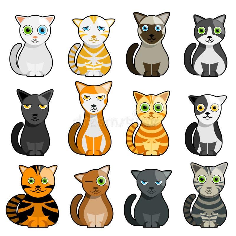 Vettore sveglio dei gatti royalty illustrazione gratis