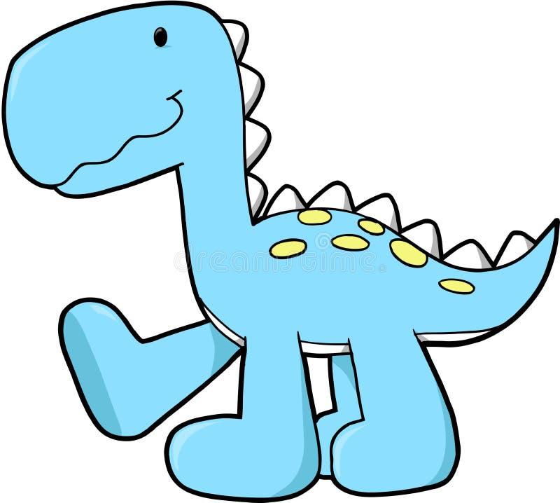 Vettore sveglio del dinosauro illustrazione vettoriale