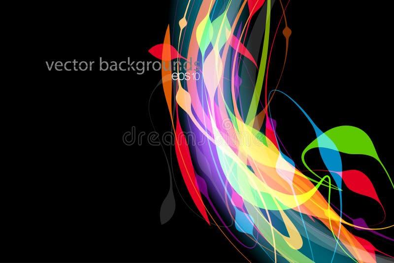 Vettore traslucido di scena di forma di colori illustrazione di stock