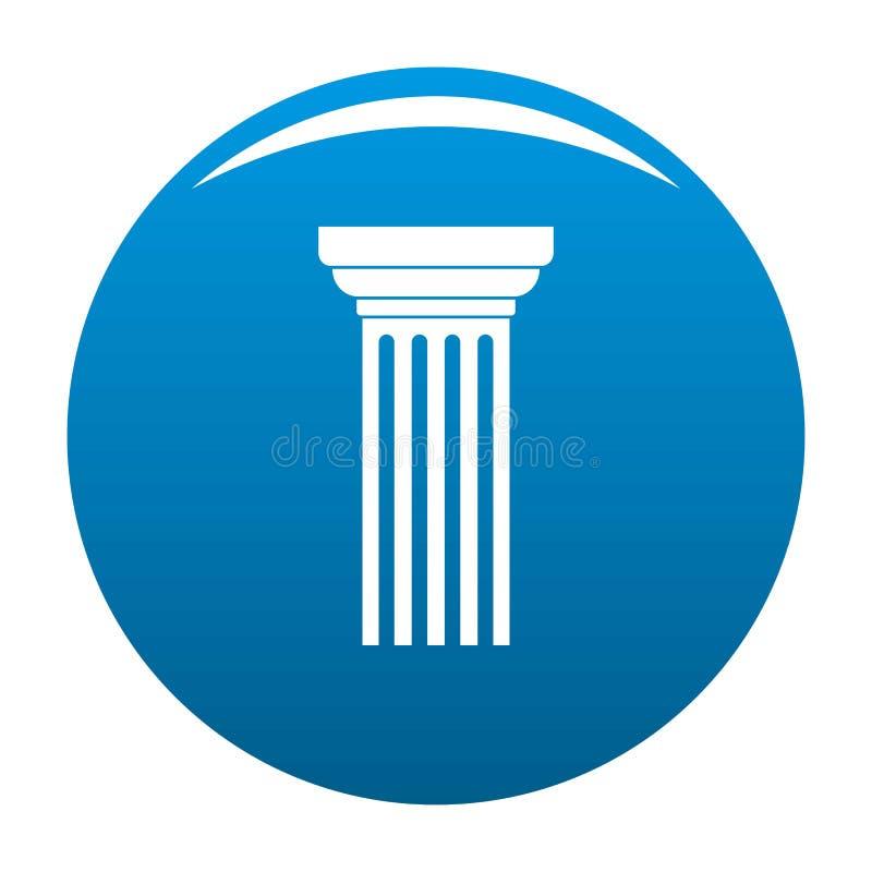 Vettore triangolare del blu dell'icona della colonna illustrazione di stock