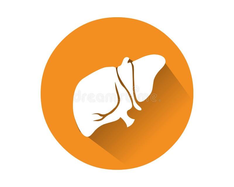 Vettore umano dell'icona del fegato Organo interno umano royalty illustrazione gratis