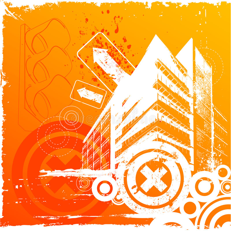 Download Vettore urbano della città illustrazione vettoriale. Illustrazione di creativo - 7315003