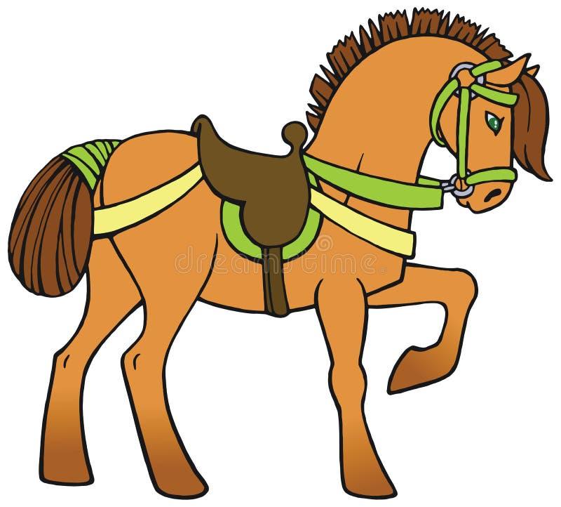 Vettore variopinto del cavallo royalty illustrazione gratis