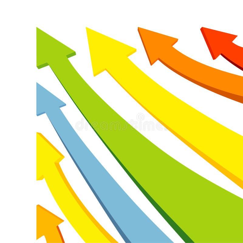 vettore variopinto delle frecce illustrazione vettoriale