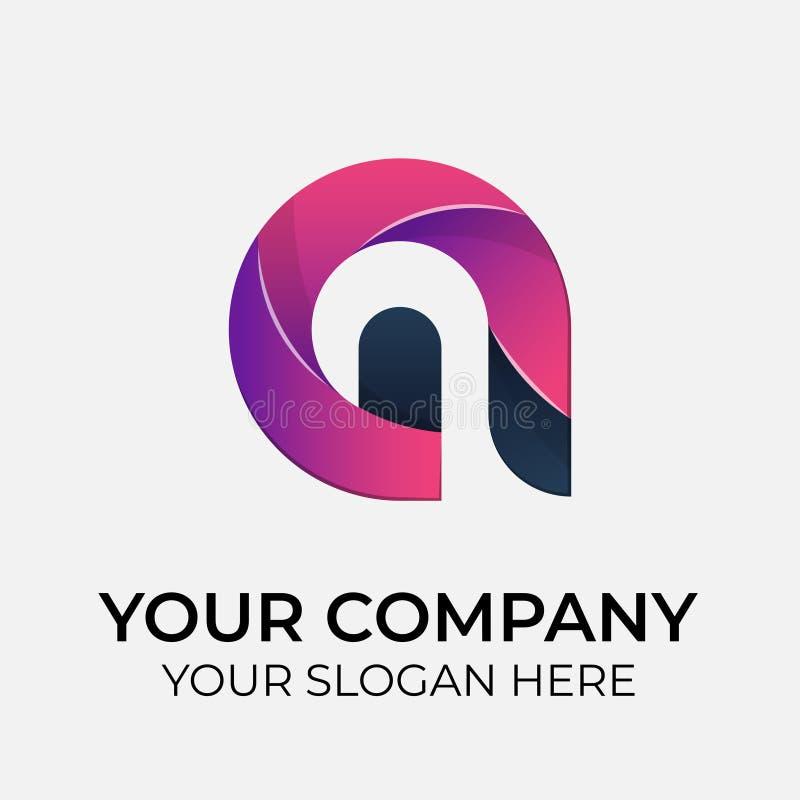 Vettore variopinto Logo Design immagine stock