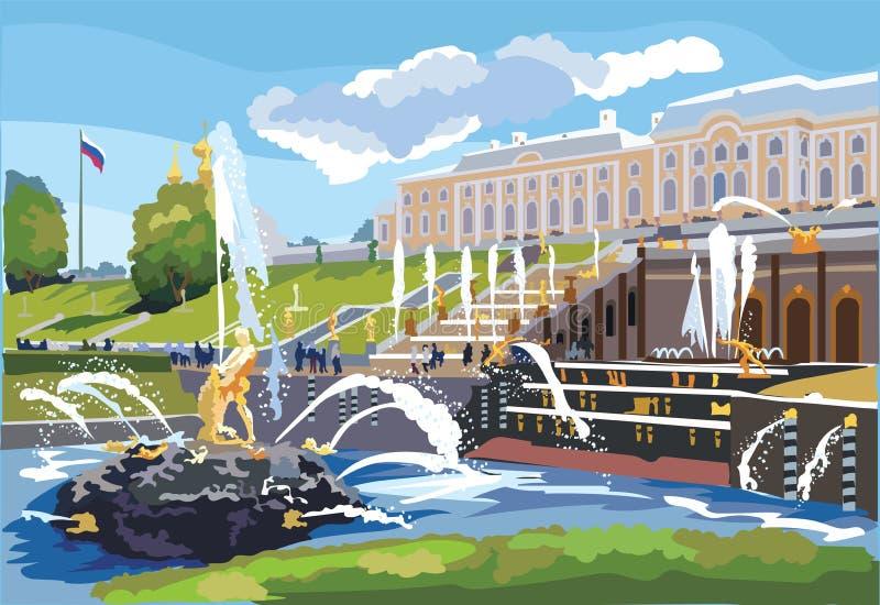 Vettore variopinto St Petersburg 7 illustrazione di stock