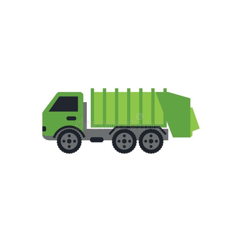 Vettore verde del modello di progettazione grafica del camion di immondizia royalty illustrazione gratis