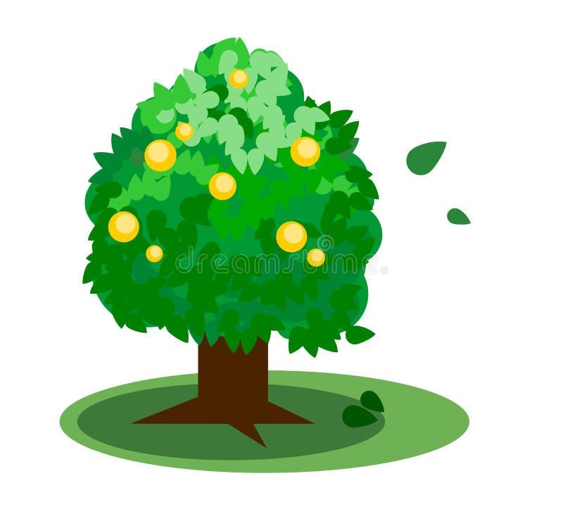 Download Vettore verde dell'albero illustrazione vettoriale. Illustrazione di ambiente - 55365644