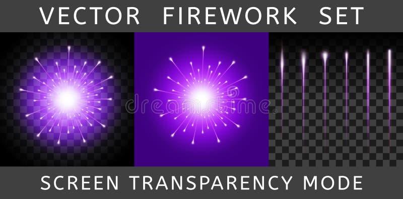 Vettore Violet Firework variopinta intelligente royalty illustrazione gratis