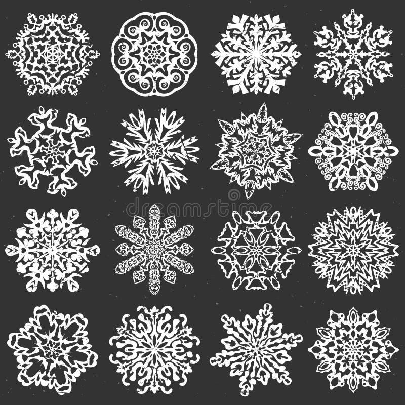 Vettori del gesso del fiocco di neve royalty illustrazione gratis