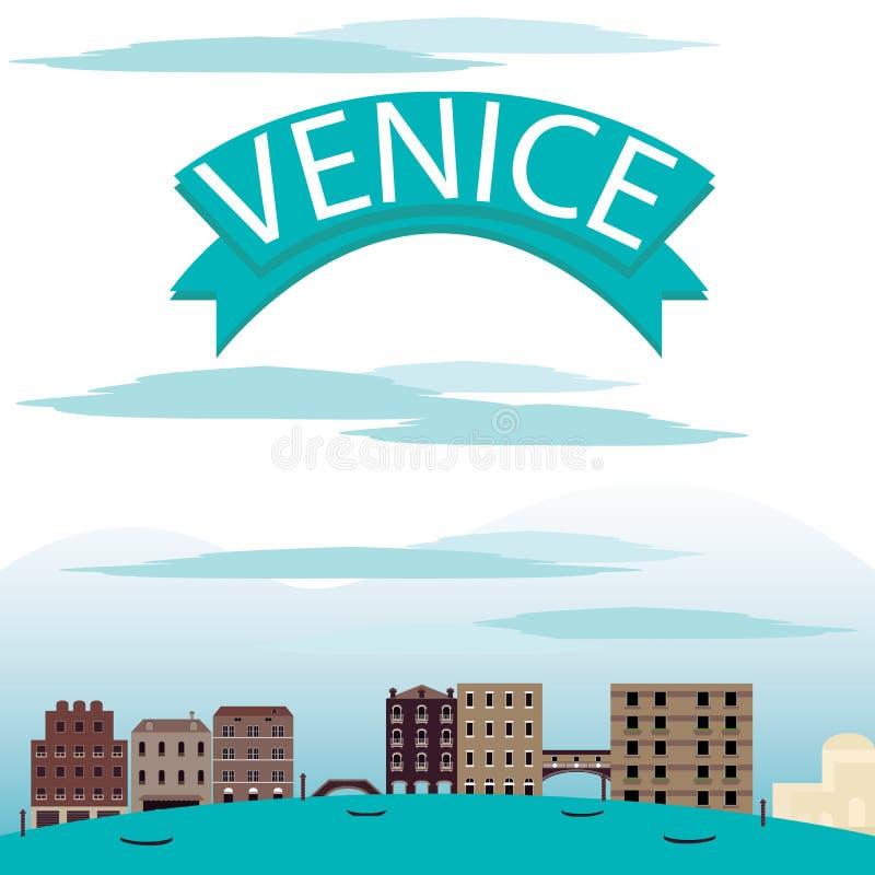 Vettori del paesaggio di Venezia royalty illustrazione gratis