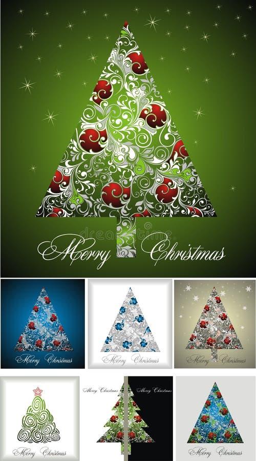 Vettori dell'albero di Natale -7 illustrazione di stock