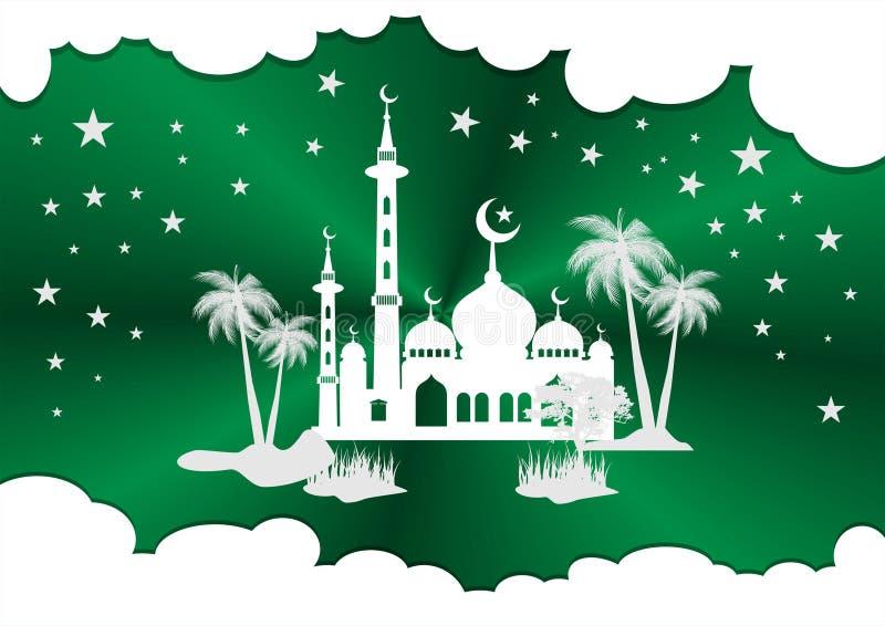 Vettori della siluetta della moschea immagini stock