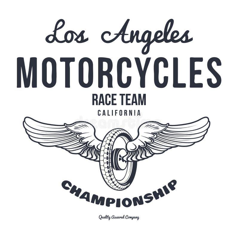 Vettori della stampa dei grafici della maglietta di tipografia del motociclo illustrazione di stock