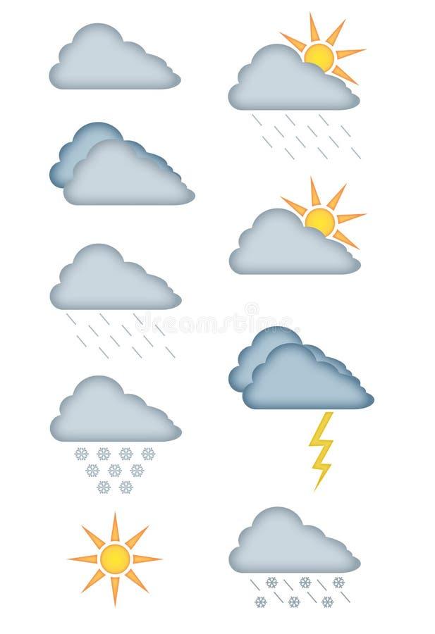 Vettori di bollettino meteorologico royalty illustrazione gratis