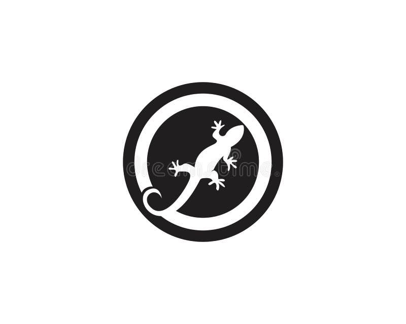 Vettori di simboli del modello del logos della lucertola illustrazione di stock