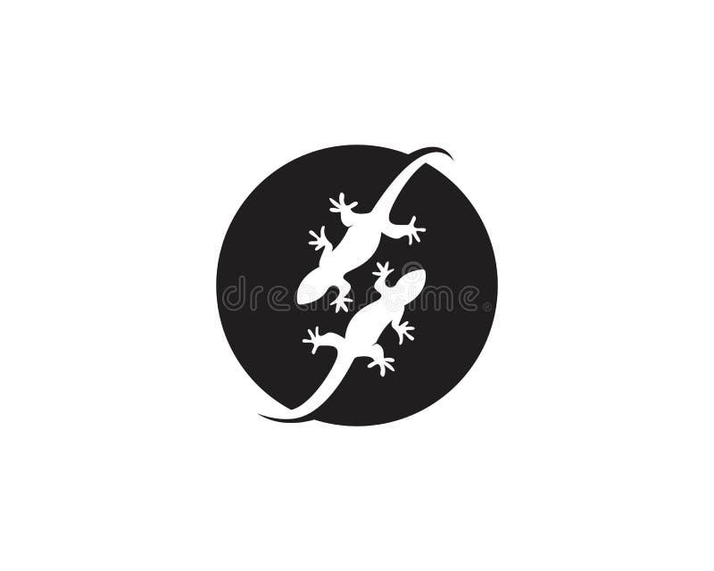 Vettori di simboli del modello del logos della lucertola illustrazione vettoriale