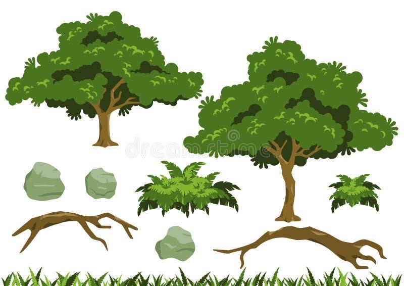 Vettori semplici dell'albero illustrazione di stock