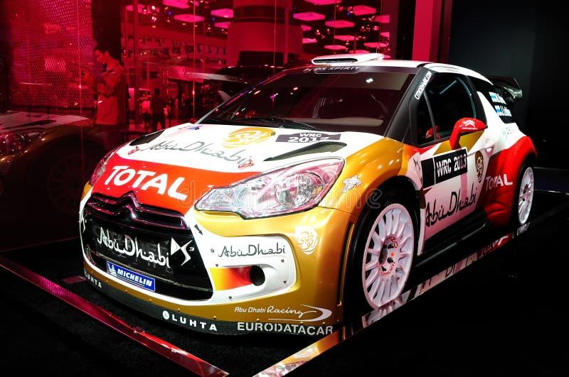 Vettura da corsa del DS3 WRC di Citroen fotografia stock