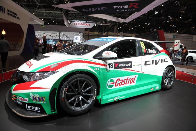 Vettura da corsa di Honda Civic WTCC 2014 immagine stock