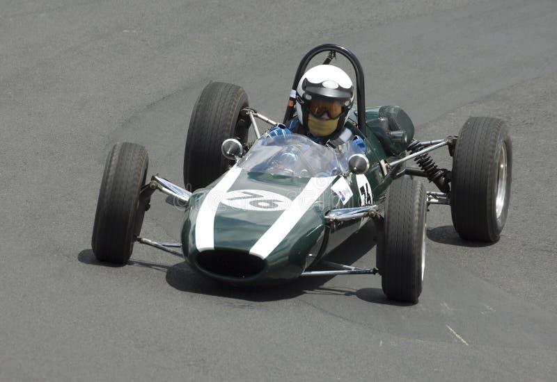 Vettura da corsa di punto culminante F1 del bottaio del veterano immagini stock libere da diritti