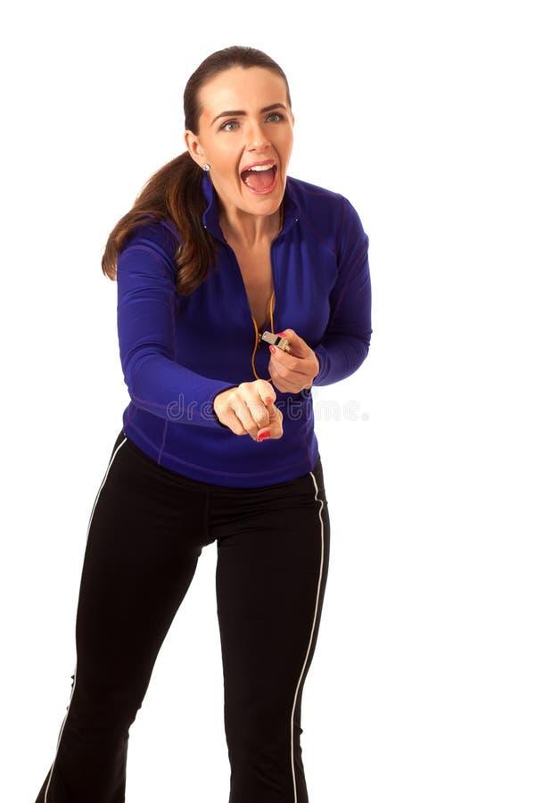 Vettura di sport delle donne fotografia stock
