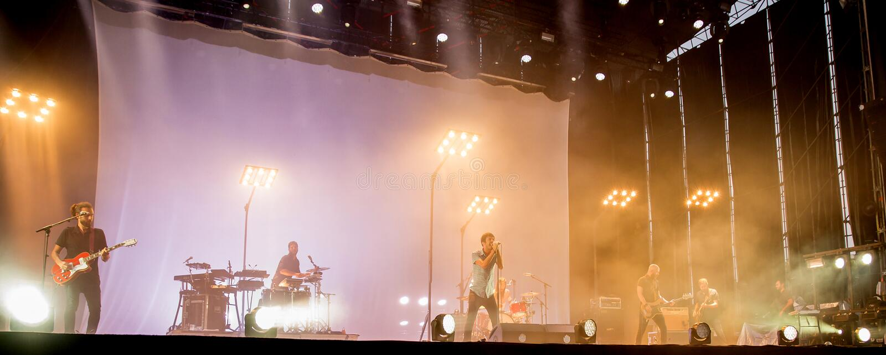 Vetusta Morla (Spanish group) in concert at FIB Festival royalty free stock photos