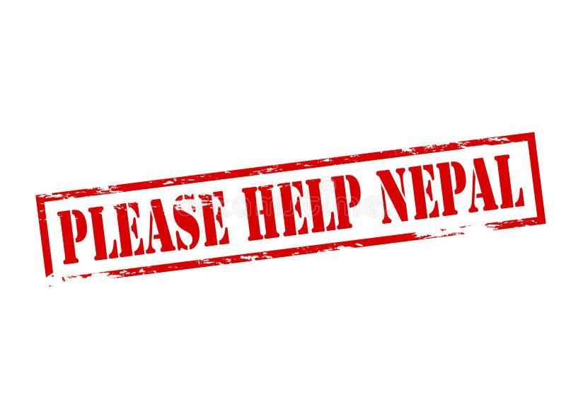 Veuillez aider le Népal illustration de vecteur