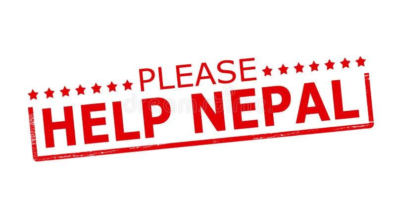 Veuillez aider le Népal illustration stock
