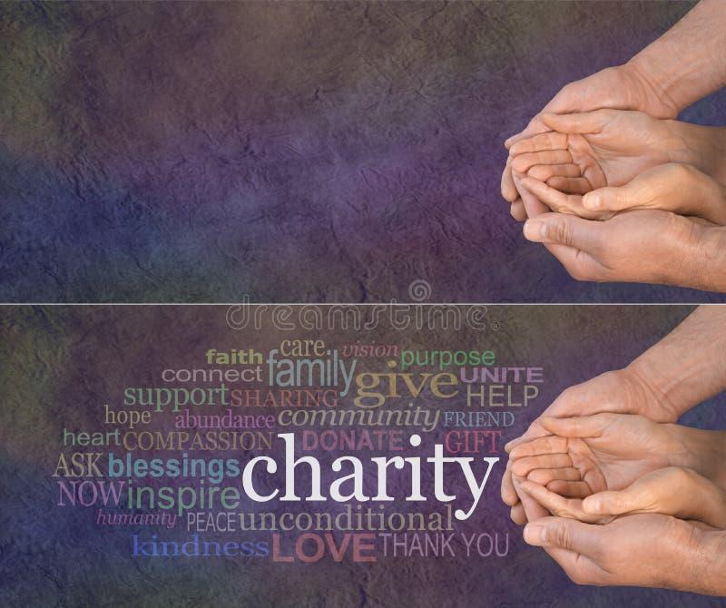 Veuillez aider notre charité photographie stock