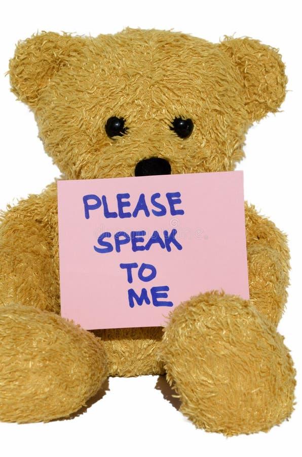 Veuillez me parler l'ours de nounours photos libres de droits