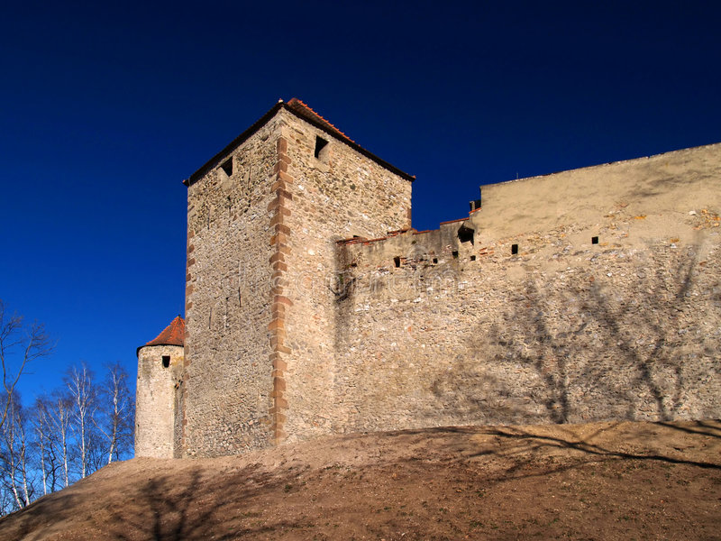 Veveri castle royalty free stock images