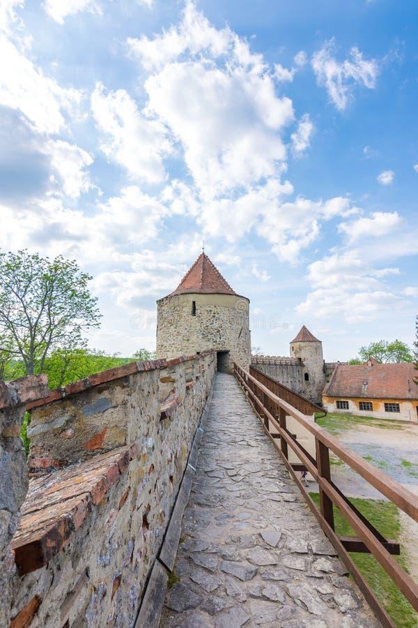 Veveri castle, Czech republic. Old ancient castle near the Brno city in South Moravia region stock image