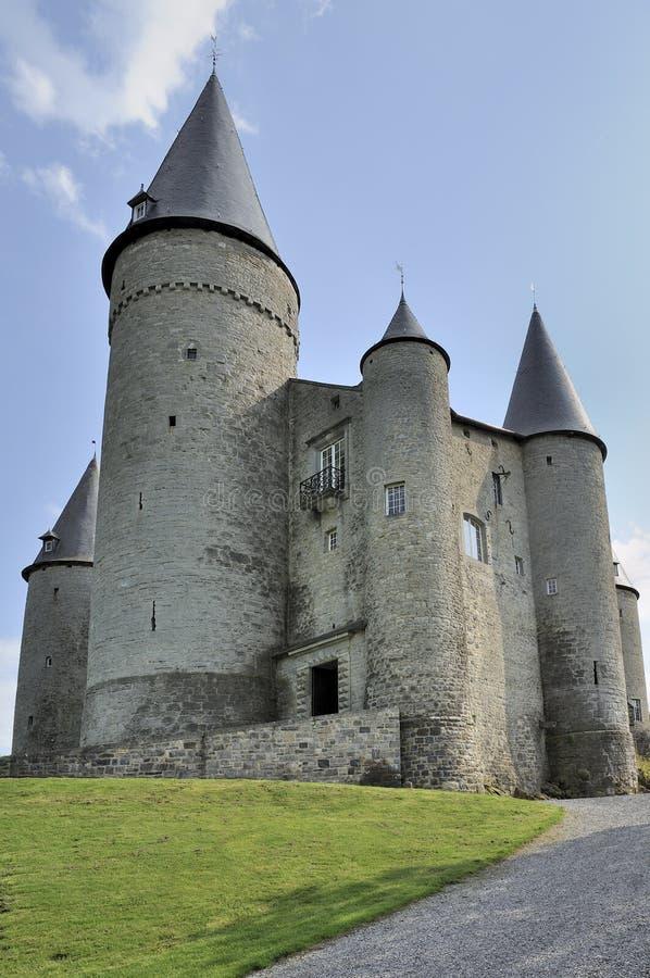 Veves castle, ardennes stock photos