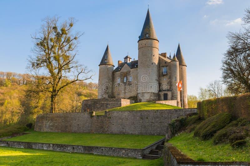 Veves kasztel w Belgia obrazy royalty free