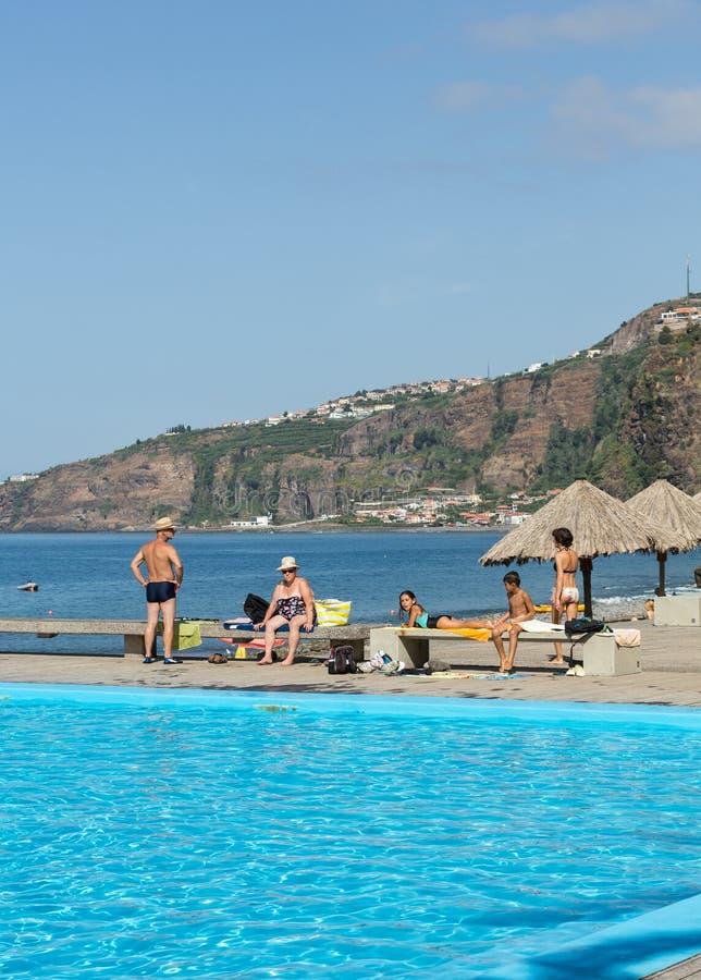 Vew της ακτής Ribeira Brava στο νησί της Μαδέρας στοκ φωτογραφία με δικαίωμα ελεύθερης χρήσης